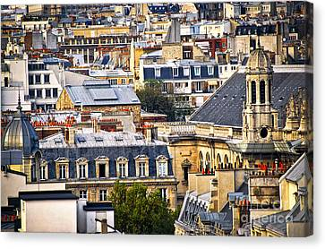 Paris Rooftops Canvas Print by Elena Elisseeva