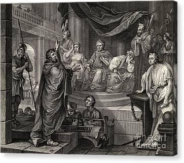 Hogarth Canvas Print - Paul Before Felix by William Hogarth