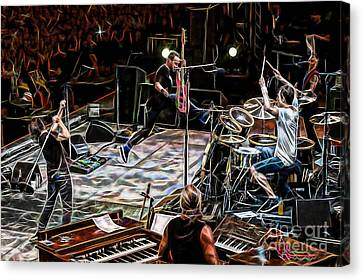 Pearl Jam Collection Canvas Print by Marvin Blaine