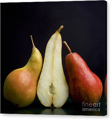 Foodstuffs Canvas Print - Pears by Bernard Jaubert
