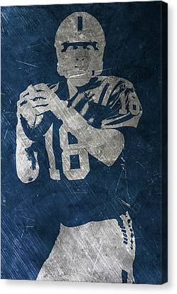 Peyton Manning Colts Canvas Print by Joe Hamilton