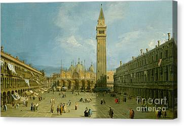 San Marco Canvas Print - Piazza San Marco by Canaletto