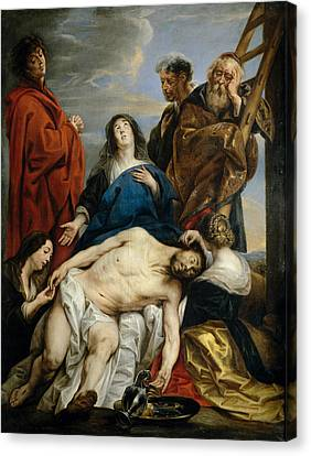 Pieta Canvas Print by Jacob Jordaens