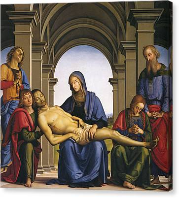 Pieta Canvas Print by Pietro Perugino