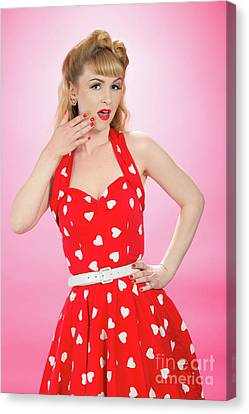 Pin Up Style Canvas Print