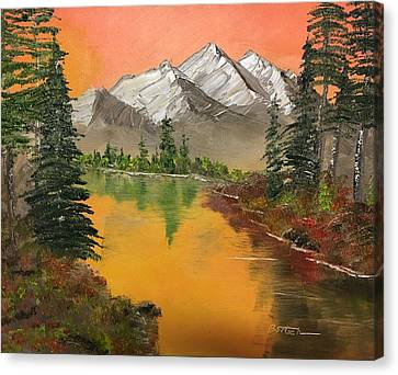 Pine Lake Canvas Print
