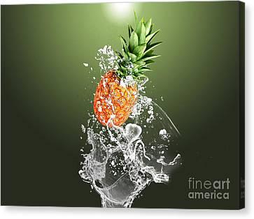 Pineapple Canvas Print - Pineapple Splash by Marvin Blaine