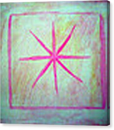 Pink Star Canvas Print