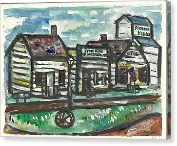 Pioneer Village Canvas Print by Matt Gaudian