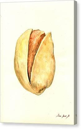 Pistachio Canvas Print by Juan  Bosco