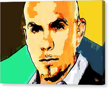 Pitbull Canvas Print by Vya Artist