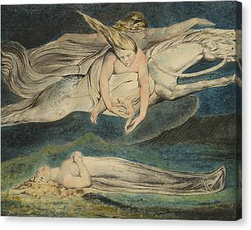 Blake Canvas Print - Pity by William Blake