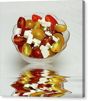Plum Cherry Tomatoes Canvas Print by David French