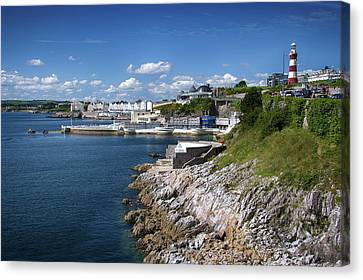 Plymouth Foreshore Canvas Print by Chris Day