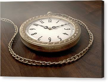 Pocket Watch On Chain Canvas Print