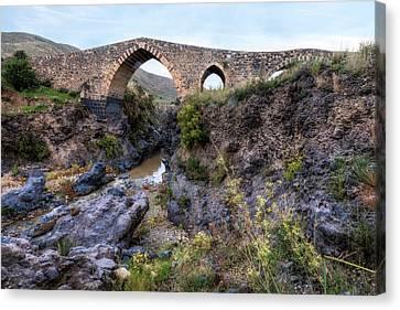 Sicily Canvas Print - Ponte Dei Saraceni - Sicily by Joana Kruse
