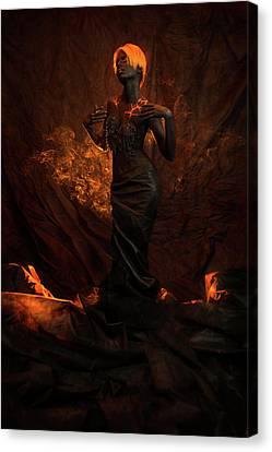 Portrait Of A Beautiful Woman With Body Painting Canvas Print by Evgeniia Litovchenko