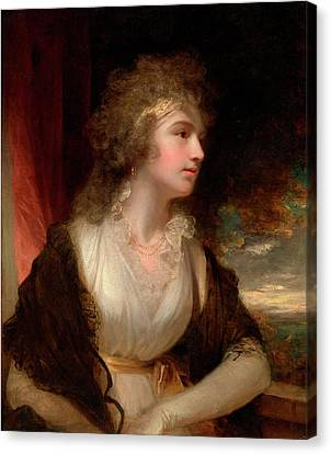 Portrait Of A Lady Canvas Print by John Hoppner