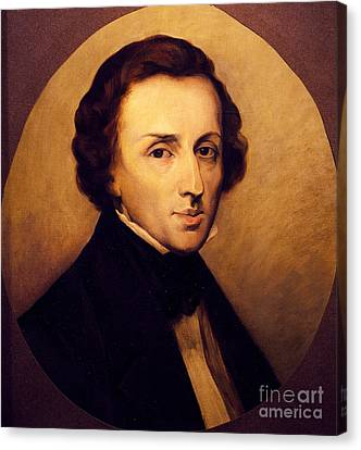 Portrait Of Frederic Chopin  Canvas Print by Ary Scheffer