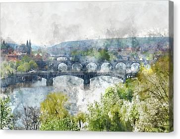 Prague Czech Republic Canvas Print by Brandon Bourdages