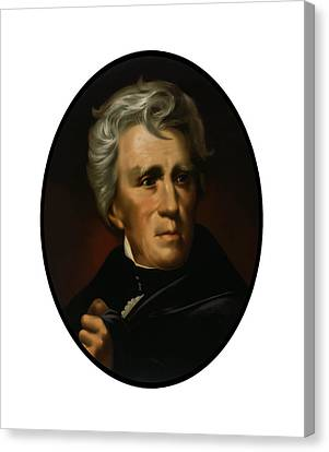 President Andrew Jackson  Canvas Print by War Is Hell Store
