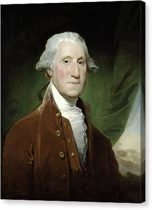 Canvas Print featuring the mixed media President George Washington by War Is Hell Store