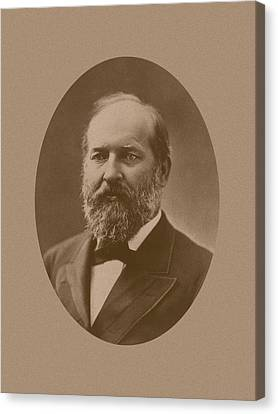 President James Garfield Canvas Print by War Is Hell Store