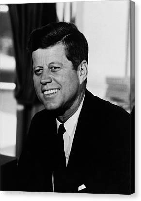 Senator Kennedy Canvas Print - President Kennedy by War Is Hell Store