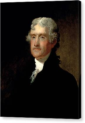 Thomas Jefferson Canvas Print - President Thomas Jefferson  by War Is Hell Store