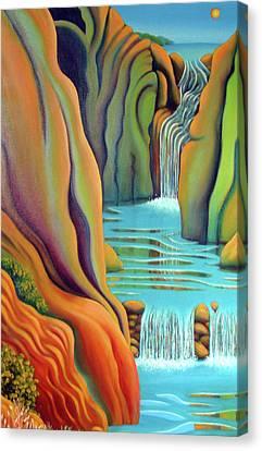 Prosperity Waterfall 2 Canvas Print by Barbara Stirrup