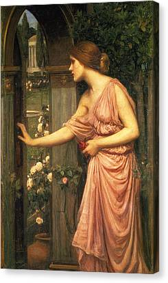 Psyche Entering Cupid's Garden Canvas Print