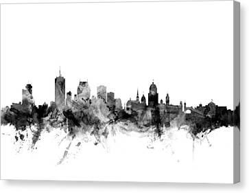 Quebec Canada Skyline Canvas Print