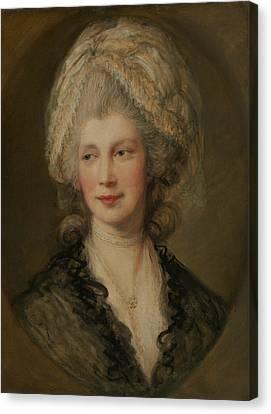 Charlotte Canvas Print - Queen Charlotte by Thomas Gainsborough