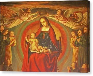 Queen Of Heaven Canvas Print by Munir Alawi