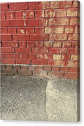 Red Brick Wall Canvas Print by Tom Gowanlock