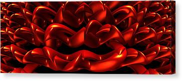 Canvas Print featuring the digital art Red by Lyle Hatch
