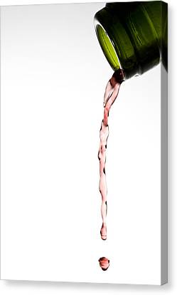 Wine Bottle Canvas Print - Red Wine by Frank Tschakert