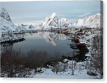 Canvas Print featuring the photograph Reine, Lofoten 4 by Dubi Roman