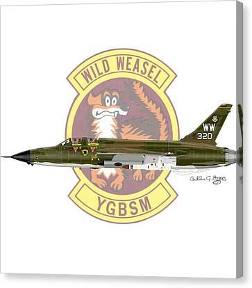 Republic F-105g Thunderchief 561tfs Canvas Print by Arthur Eggers
