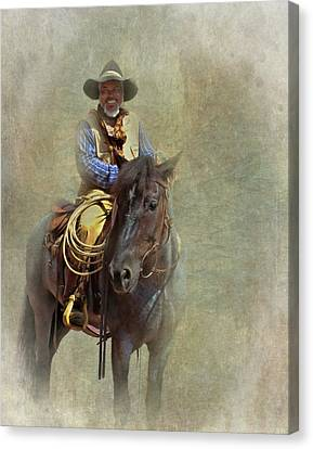 Canvas Print featuring the photograph Ride Em Cowboy by David and Carol Kelly