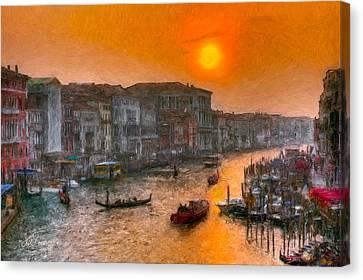 Canvas Print featuring the photograph Riva Del Ferro. Venezia by Juan Carlos Ferro Duque