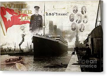 Rms Titanic Canvas Print by Jon Neidert