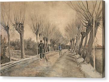 Road In Etten Canvas Print by Vincent van Gogh
