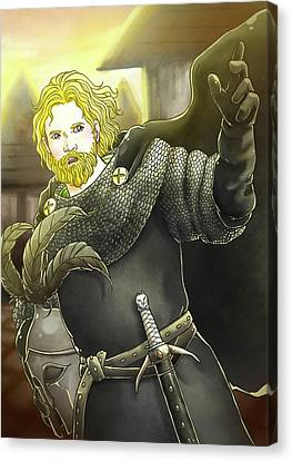 Robin Hood Baron Fitzwalter Canvas Print by Reynold Jay
