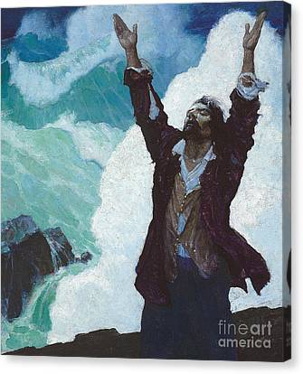 Robinson Crusoe Canvas Print by Newell Convers Wyeth