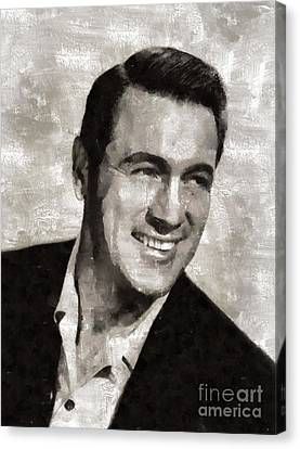 Rock Hudson Hollywood Actor Canvas Print by Mary Bassett
