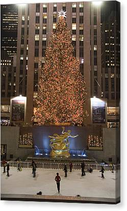Rockefeller Center And The Famous Canvas Print by Taylor S. Kennedy