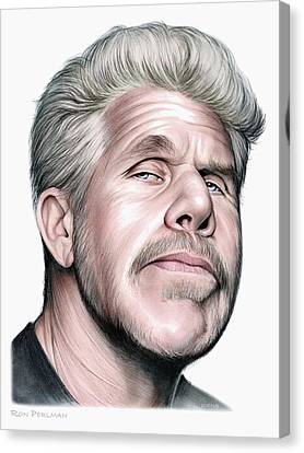 Ron Perlman Canvas Print