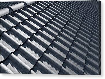 Roof Tiles Design Top Canvas Print by Allan Swart