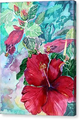 Rose Of Sharon Canvas Print by Mindy Newman
